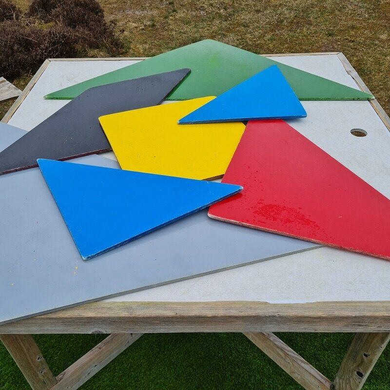 Tangram - Mon I kan samle et kvadrat ud af 7 brikker ?
